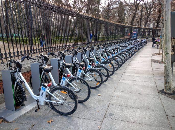 Bicicletas para alugar em Madri