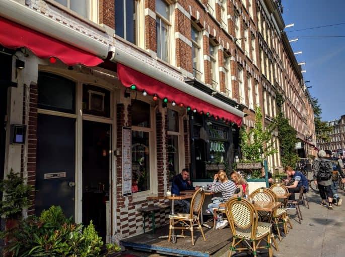 Monte Verde: pizzaria em Amsterdã | Frente do prédio