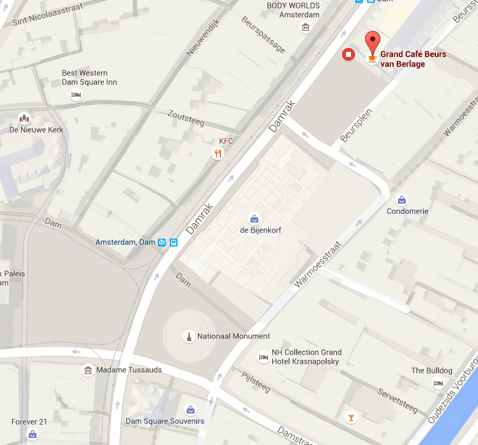 Mapa do Grand Cafe Beurs van Berlage