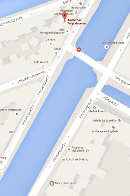 Museu da Tulipa, em Amsterdã: mapa e proximidade com a Anne Frank Haus