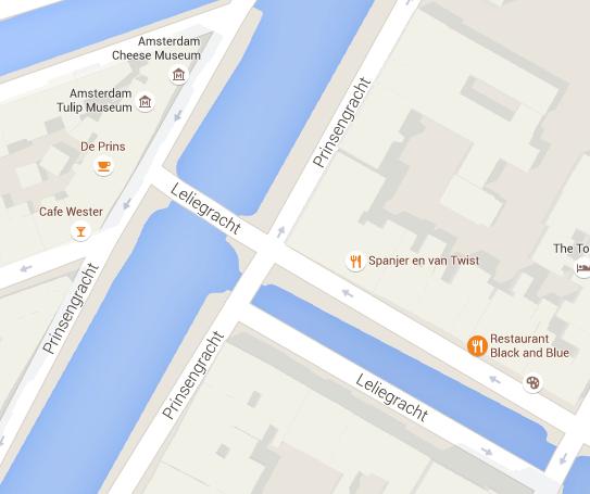 Museu da Tulipa, em Amsterdã: outro mapa