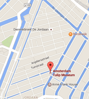 Museu da Tulipa, em Amsterdã: mapa