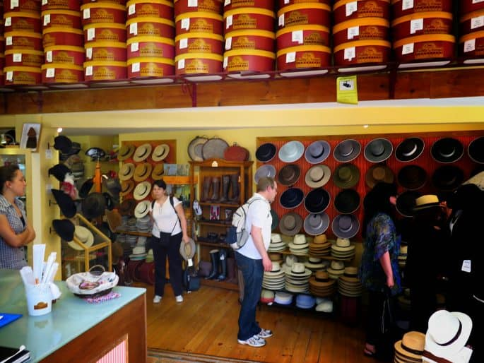 Loja de chapéus em Sevilha