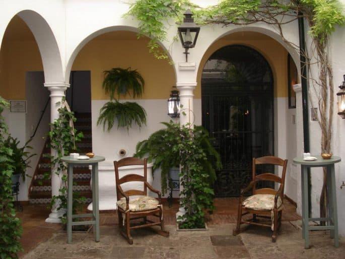 Restaurante Bodegas Campos, em Córdoba: pátio