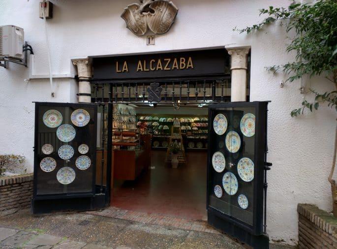 Loja de pratos em Sevilha