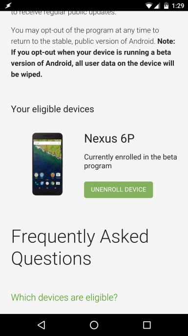 Atualização de sistema para Android 7.0