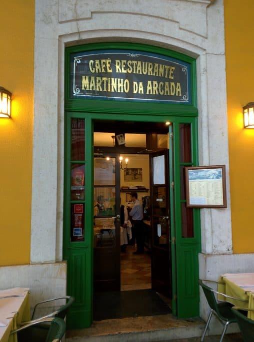 Restaurante Martinho da Arcada: porta de entrada principal