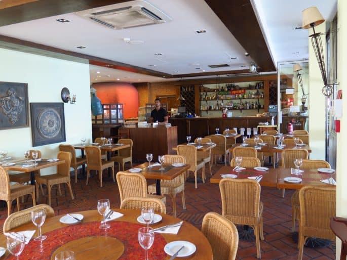Interior do Restaurante La Rúcula