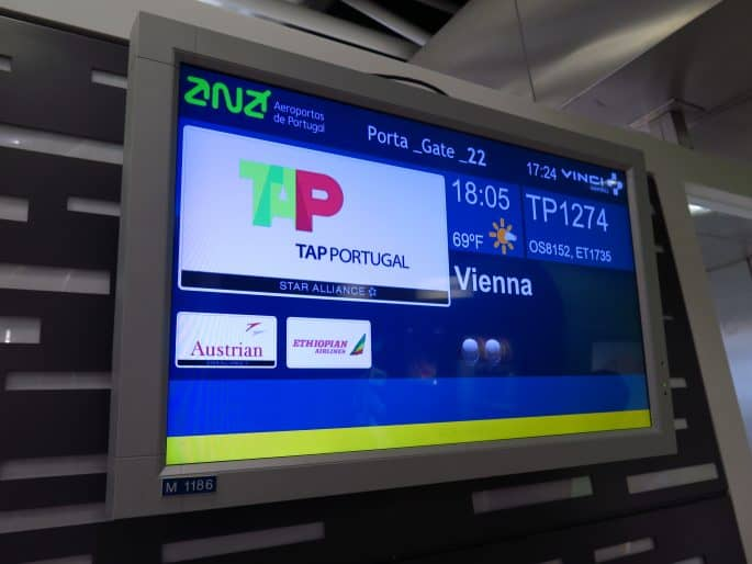 TAP, vôo Lisboa-Viena