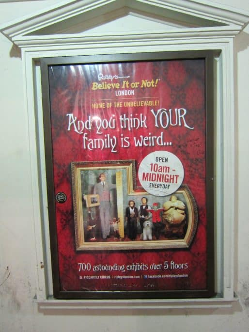 Museu Ripley's Believe It or Not!, em Londres