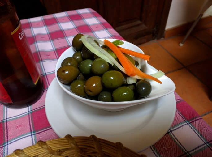 Restaurante Plácido, em Toledo | Azeitonas