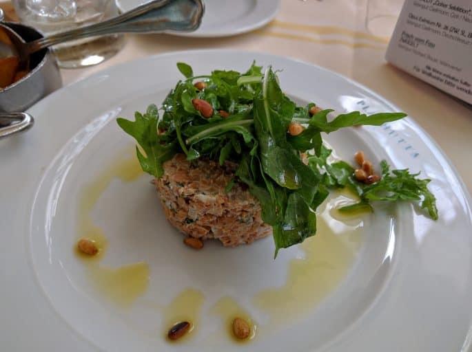 Restaurante Plachutta, em Viena - Prato vegetariano