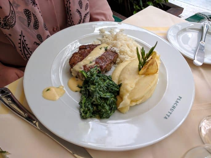 Restaurante Plachutta, em Viena - Outro prato servido