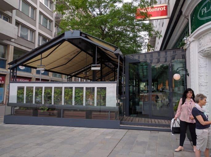 Restaurante Plachutta, em Viena - Exterior da esplanada