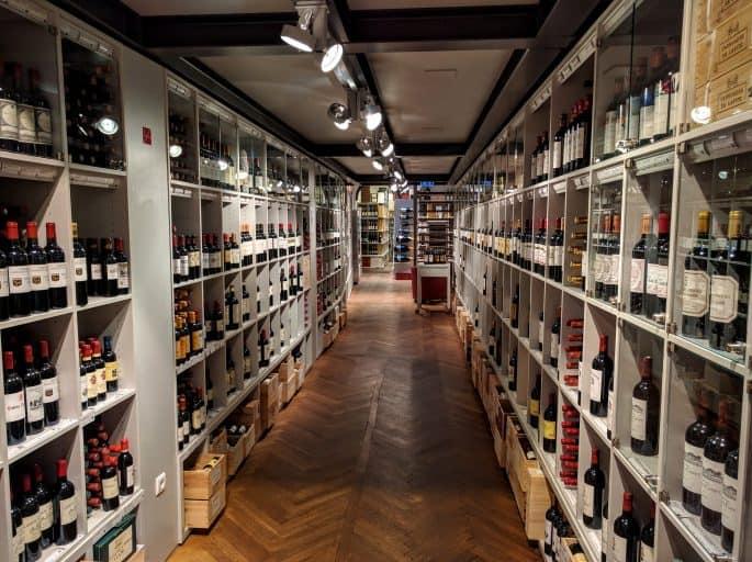 Loja de vinhos em Viena