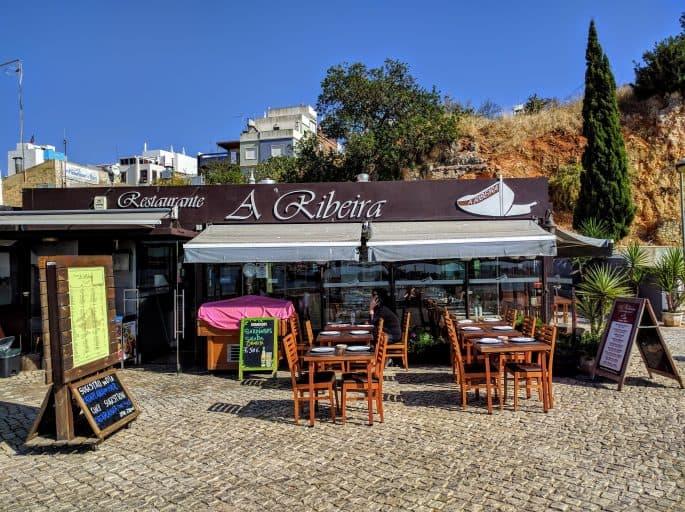 Restaurante A Ribeira - Alvor, Algarve, Portugal   Fachada