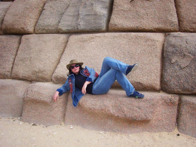 Subir nas Grandes Pirâmides do Egito
