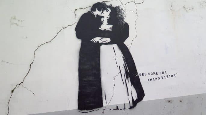 Pintura que retrata Amaro e Amélia
