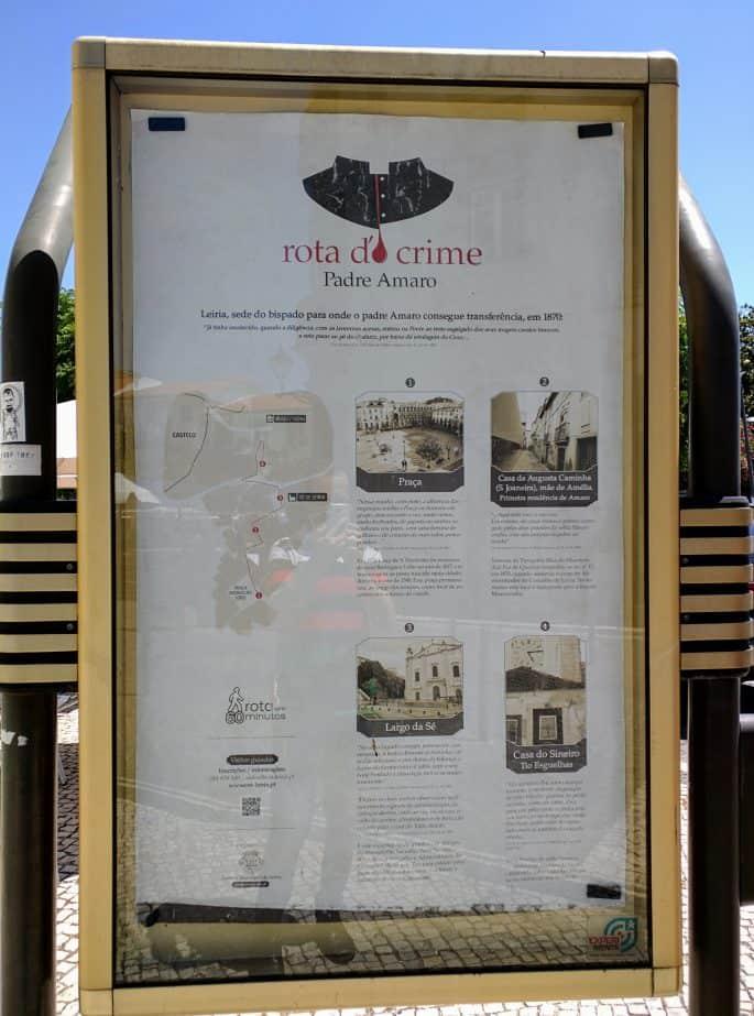 Anúncio da Rota do Crime.