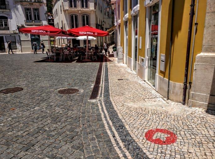 Leiria: Rota do Crime do Padre Amaro, de Eça de Queiroz | A primeira seta vermelha no chão