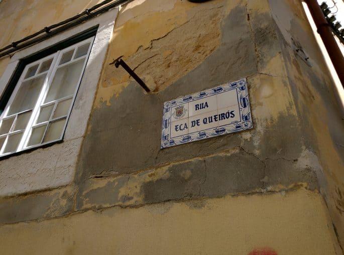 Rua Eça de Queiroz, em Leiria