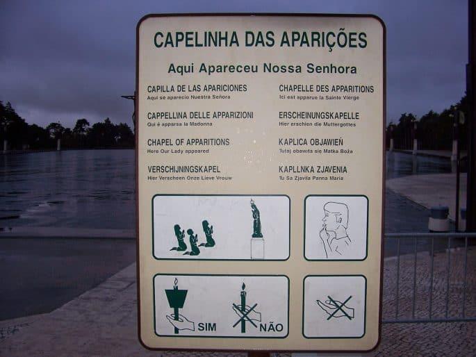 Cpaelinha das Aparições em Fátima
