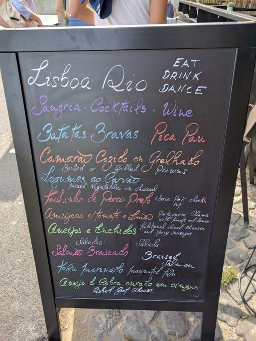Lisboa Rio: restaurante no Cais do Sodré, em Lisboa | Carta, menu