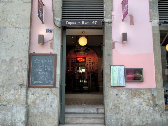 Tapas Bar 47, no Chiado: fachada