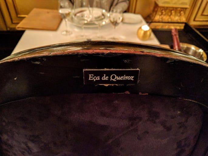 Restaurante Tavares: Eça de Queiroz