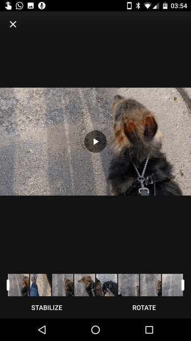 Estabilização de vídeos no Google Fotos