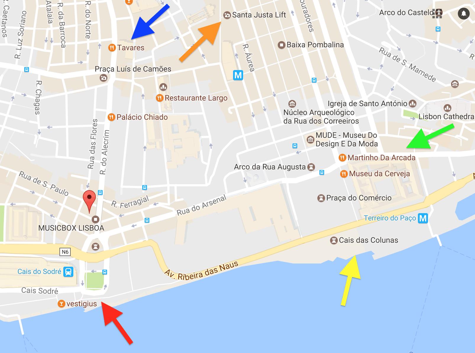mapa cais do sodre Cais do Sodré: agitação de bares e restaurantes em Lisboa | G. DAMAS mapa cais do sodre
