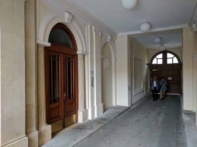 Apartamento de Johann Strauss em Viena: acesso ao interior do prédio