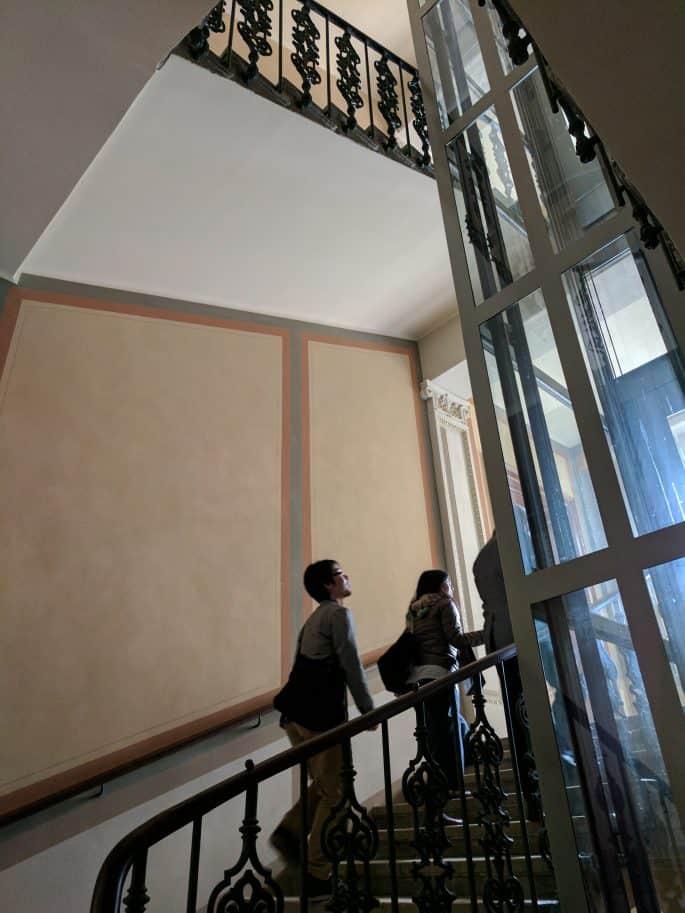 Apartamento de Johann Strauss em Viena: subindo as escadas