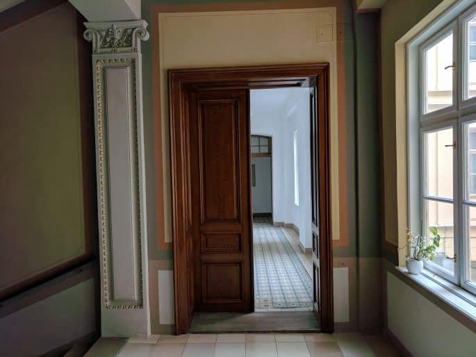 Apartamento de Johann Strauss em Viena: corredor de acesso ao apartamento
