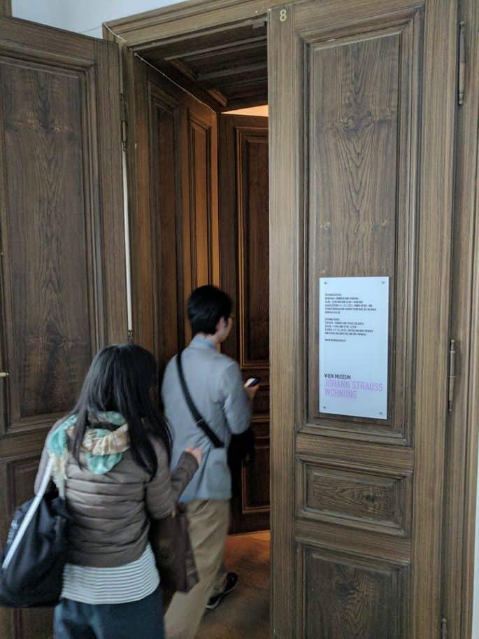 Apartamento de Johann Strauss em Viena: entrada do apartamento