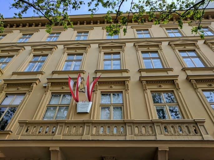 Apartamento de Johann Strauss em Viena: fachada do prédio