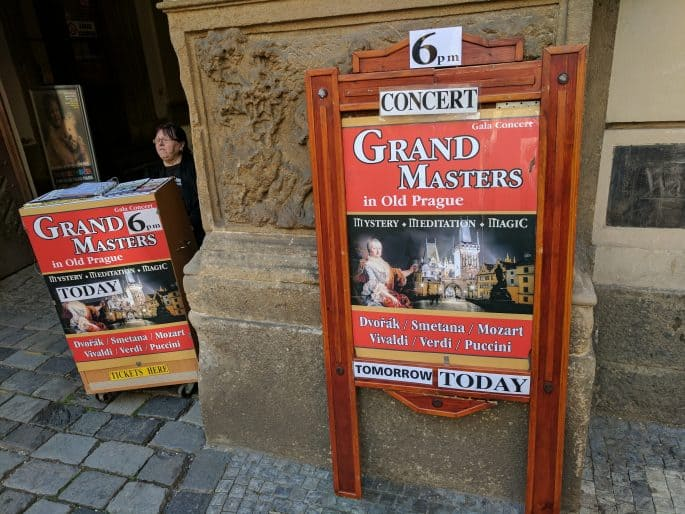 Música erudita nas ruas de Praga