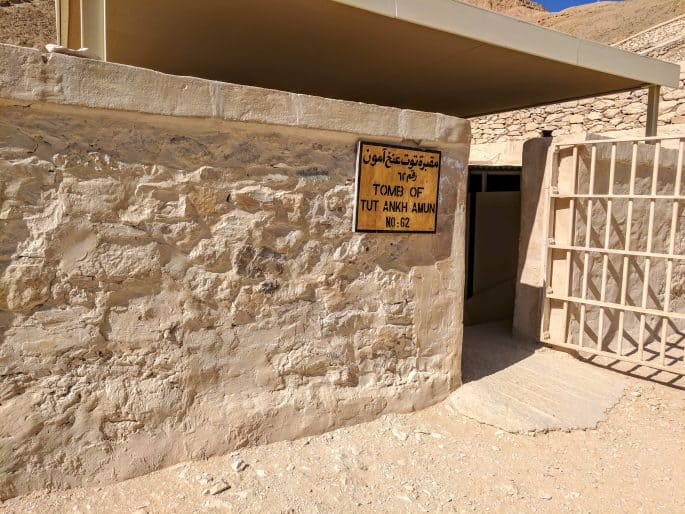 Entrada da tumba de Tutancamon