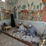 Ótima loja de produtos de alabastro (e outros materiais) em Luxor, Egito