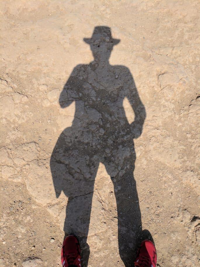 Minha sombra em Gizé