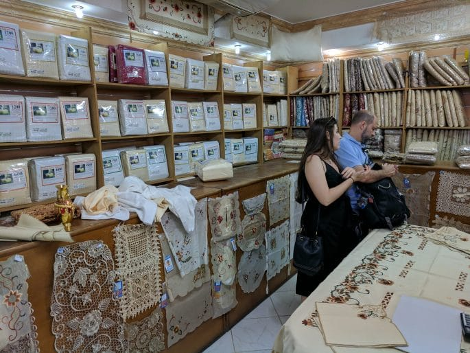 Loja de algodão no Cairo
