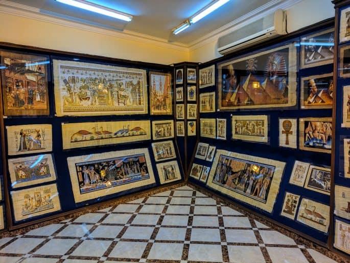 Loja de papiro no Cairo
