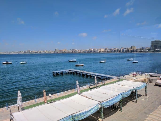 Fish Market: restaurante em Alexandria | Vista do mar