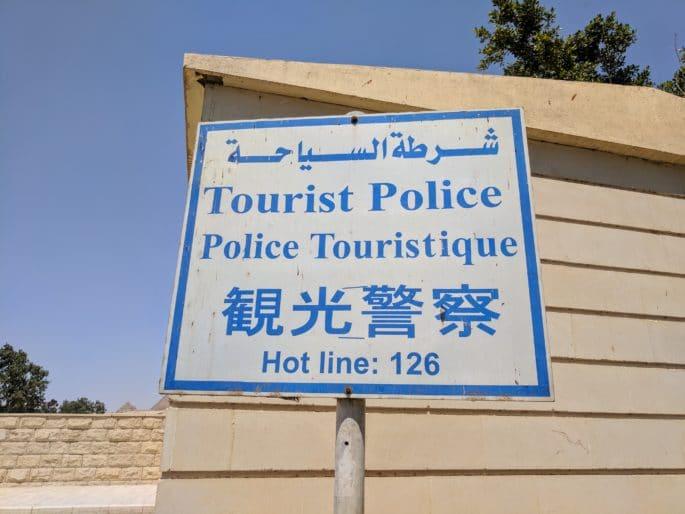 Polícia Turística no Egito