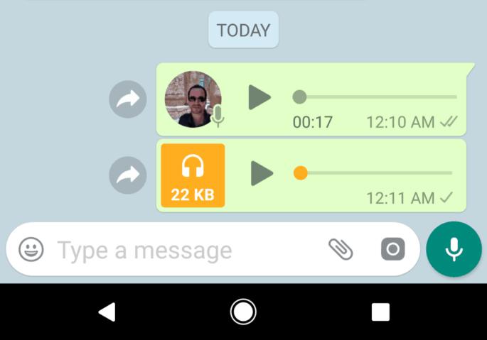Gravar áudio no WhatsApp com os dedos livres