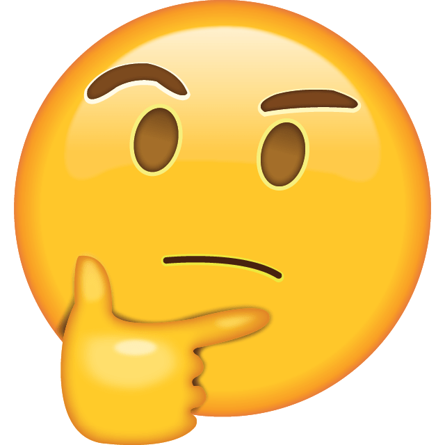 Emoji em dúvida.