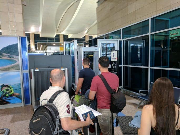 Aeroporto do Cairo | Verificação de segurança