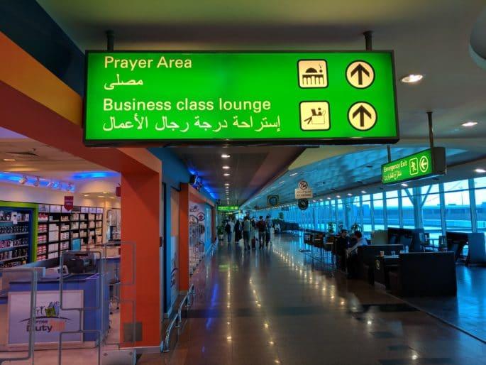 Aeroporto do Cairo | Área para orações