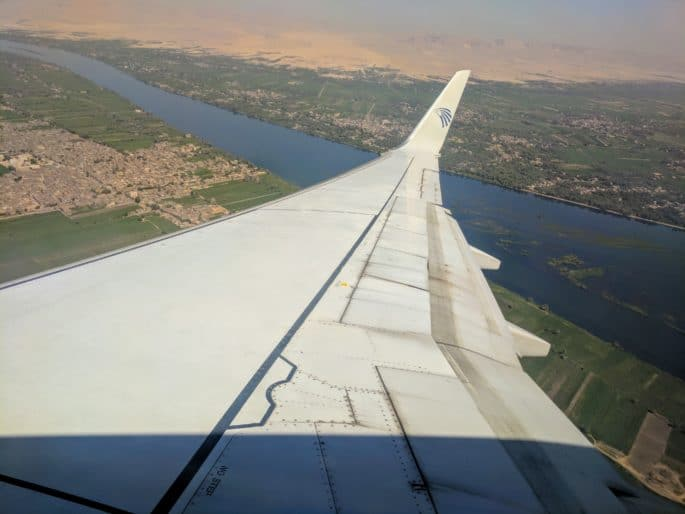 Vôo pela EgyptAir