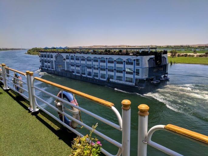 Cruzeiro no Rio Nilo | No convés do navio